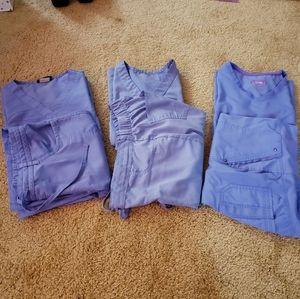 Ciel Blue Scrub Collection